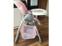 Hauck brand new highchair with newborn support