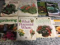 Selection of gardening books x 8