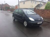 family citroen picasso with panaramic sunroof
