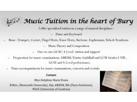 Music tuition in the heart of Bury