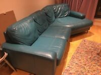 Leather Sofa Excellent Condition £100 - separates into two parts for transporting