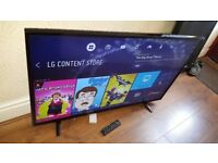 LG 49-inch ULTRA HD 4K HDR Smart LED TV, 1000Hz, built in Wifi,Freeview Play, good condition