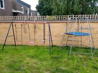 Swing set and tp climbing frame