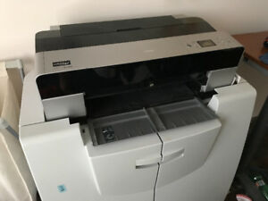 Epson 3800 17x22 photo printer, paper and stand