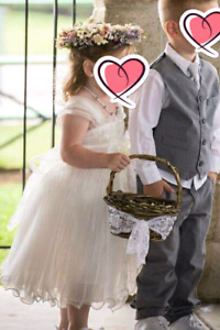 Flower girl dress & flower halo