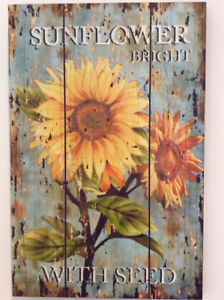 Sunflower wooden plaque
