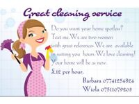 Great cleaning service 12£ per hour