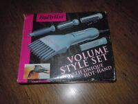 Volume Style Set, Foldable Hair Straighteners, Ceramic Waver