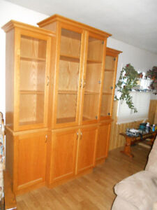 Beautiful Oak Trim China Cabinet