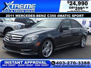 2011 Mercedes-Benz C350 4Matic Sport $209 b/w APPLY NOW