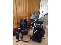 Graco obaby pram Pushchair Isofix stage 0-1 car seat travel system