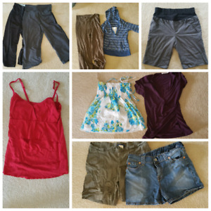 Maternity clothes lot or separates.