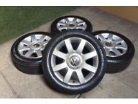 "16"" mk 5 golf alloys with good tyres"