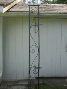 BEAUTIFUL 2 PIECES OF WROUGHT IRON 90 BY  9 INCHES