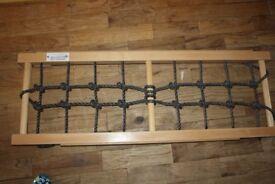 Nursery climbing frame attachment climbing net