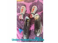 football boots and shin pads