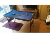 Pool/Snooker table pot black 4ft6