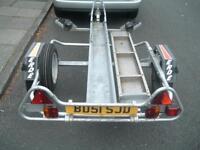 Erde Galvanised Motorbike Trailer + ramp/straps/spare wheel