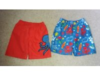 2 pairs of boy's swim trunks age 4-5. Marks & Spencer. £1 for both