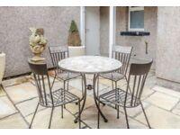 John Lewis Petra 4 Seater Mosaic Table Set - Garden Furniture / Bistro Set
