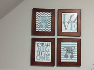 Baby room prints and frames