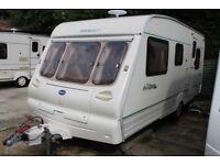 Bailey Ranger 500-5 2001 5 Berth Caravan + Porch Awning (Light Towing Weight)