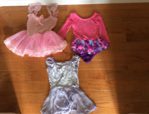 Girls dance shoes (tap and ballet shoes) and bodysuits for sale
