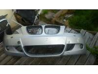 BMW 1 SERIES - MSPORT -** Front Bumper ** E81 E87 -- Fits 2006 -2011 -- COMPLETE-- WITH JET WASHER
