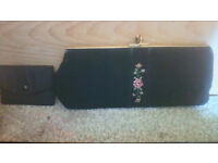 Pretty vintage clutch bag with small coin purse