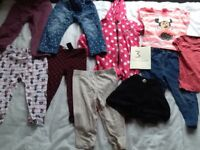 Collection of girls clothes