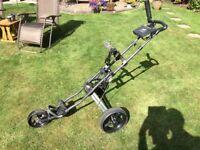 Power caddy folding golf trolley