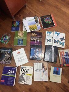 U of L textbooks and DAT, MCAT