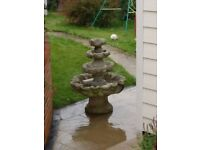 Stone 4 tier garden water feature
