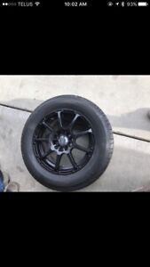 Enkei rims with summer and winter tires