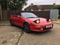 Toyota MR2 GT 1991 , 2000cc, 146,000 miles project