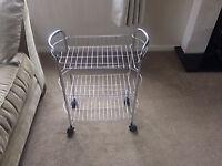 Kitchen Trolley-Stainless steel three baskets