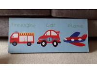 Kids bedroom canvas. 30cm by 70cm