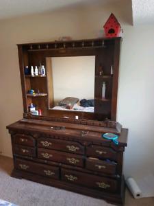 dresser, mirror, chest, night stand