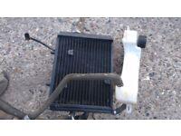 Aprilia Sport City 300 Radiator 011 - fits many- SportCity Cooler fan antifreeze overflow tank hoses