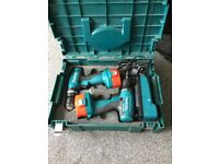 Makita 14.4v drill driver and hammer drill set