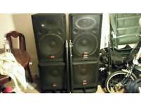 Wharfedale powered PA speakers