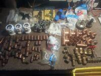 Plumbing fittings, Larg box full