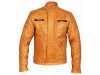 Mens Tan Weybridge Leather Jackets - Charlie LONDON