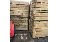 🌲•New• Pressure Treated Wooden Railway Sleepers 190 x 90 x 2.4m🌲