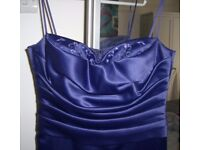 Beautiful Hand-Made Purple Evening/Party/Prom/Bridesmaid's Long Dress size 10-12 – mint condition
