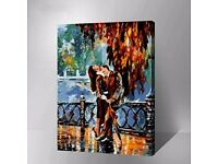 [Leonid Afremov] - KISS AFTER THE RAIN painting copy