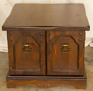 Wood Lamp Table and/or Storage Cabinet