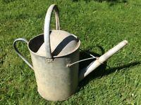 Vintage Galvanised Steel Watering Can