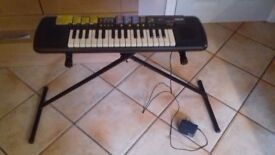 Yamaha Keyboard Port-a-Sound with Charger and Stand age 5+