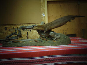 Taxidermy River Otter